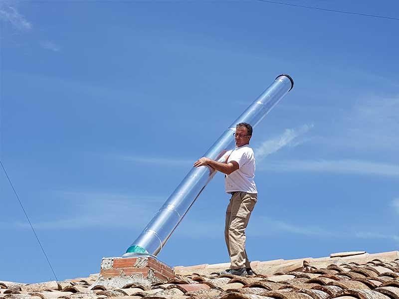 Insercao tubo solar