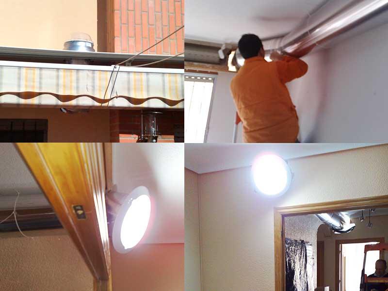 tubo solar horizontal
