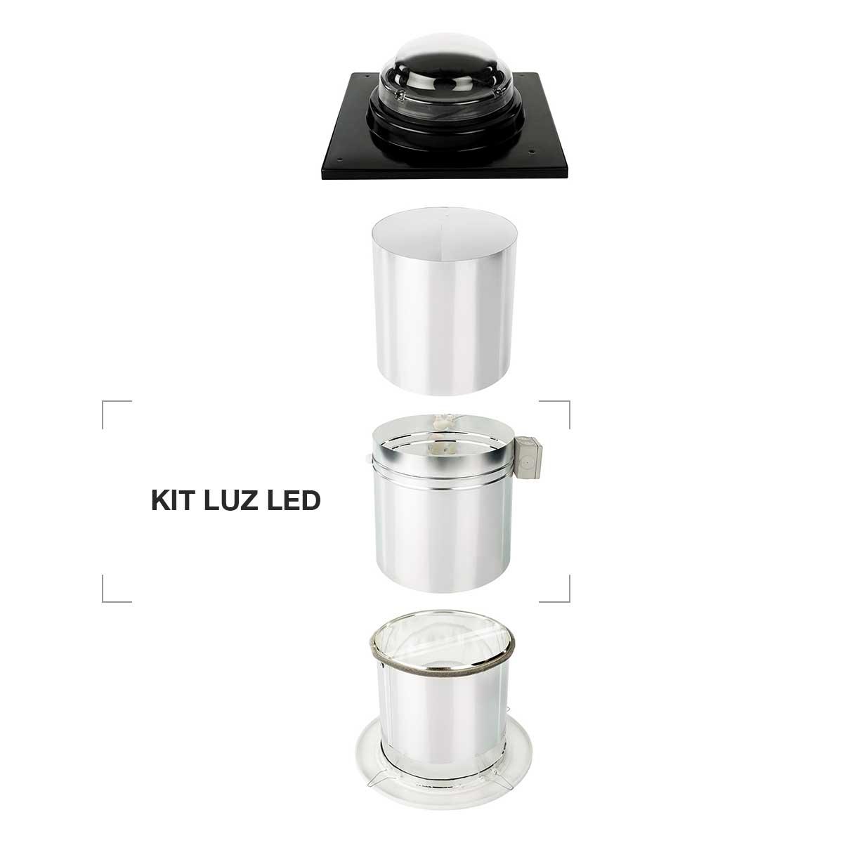accessorio led tunnel solare lampadina